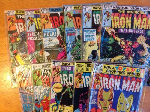 Iron Man 129,130,131,132,133,134,135,136,137,138,139. run of 11 bronze age