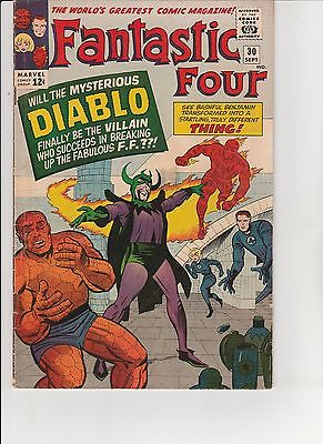 Fantastic Four #30    about 4.0  UnRestored, Nice (NC 2-1)
