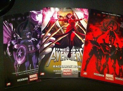 Marvel Comics AVENGERS TPB Lot: Uncanny Avengers, Avengers, New Avengers