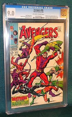Avengers 55 (CGC 9.0) OW/White pg; 1st reveal Ultron-5; 1968 Marvel (id# 13503)