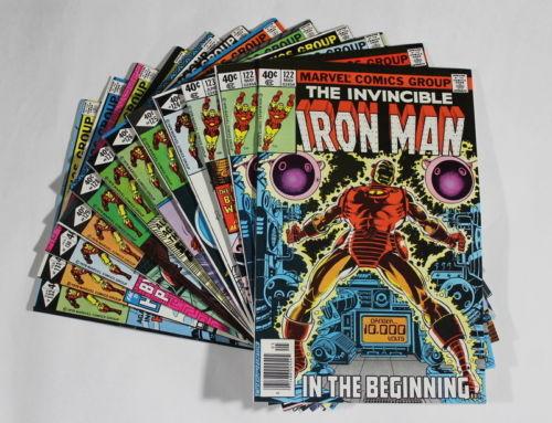 E6 Iron Man Marvel Comic Books 122 123 124 125 126 127 128 129 130 131 & 132