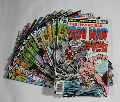 E9 IRON MAN Marvel Comic Books 120 121 122 123 125 126 127 128 129 130 131 & 132