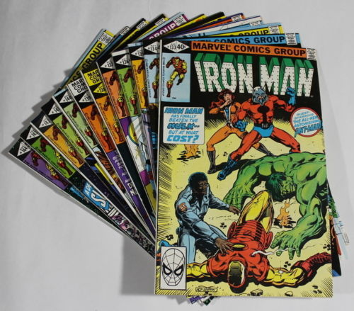 F1 Marvel Comic Books IRON MAN 133 134 135 136 137 138 139 149 141 142 143 & 144