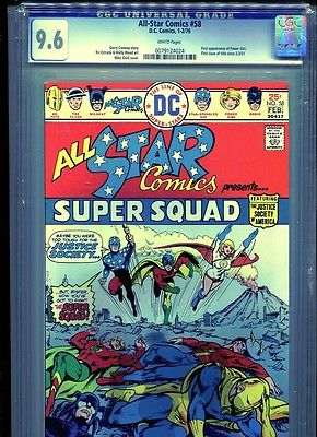 ALL-STAR COMICS #58 CGC GRADED 9.6 1976 #0079124024 1st APP OF POWER GIRL