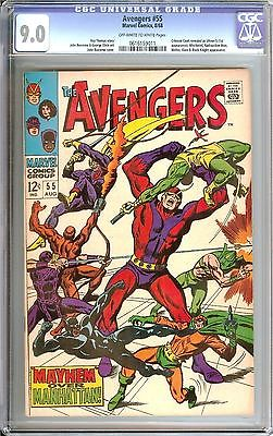 AVENGERS #55 CGC 9.0 OW/WH PAGES // 1ST APPEARANCE OF ULTRON + BONUS ITEMS HOT