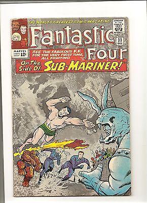 Fantastic Four 33. High grade golden Age. First App. Attuma