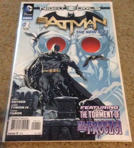 Batman Annual 1 The New 52 Night Of The Owls