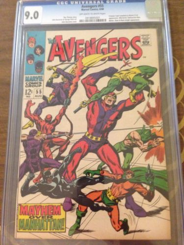 Avengers #55 CGC 9.0 VF/NM 1st Ultron (Iron Man Hulk Captain America) Graded