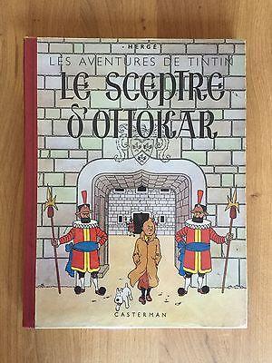 Hergé Tintin Le Sceptre d'Ottokar ED 1942 Grande Image Inédite Proche NEUF RARE.