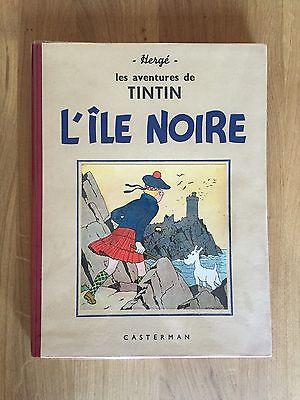 Hergé Tintin L'Ile Noire ED 1941 Petite Image Tout Proche du NEUF RARE.