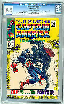 Tales of Suspense #98 CGC 9.2 OW/W Pages Black Panther Nick Fury Marvel