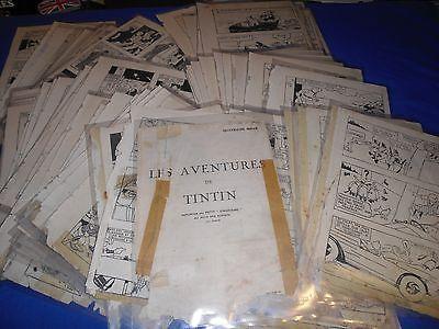 TINTIN AU PAYS DES SOVIETS 1930  EN PREMIERE EDITION 126 PLANCHES VOLANTES