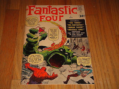 Fantastic Four #1 1961 Nice VG/F 5.0 1st App of Fantastic Four Very Rare