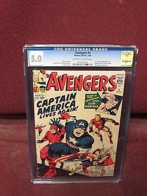 Avengers #4 (1961 Vol 1) CGC 5.0 Comics Books