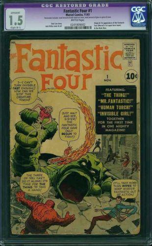 Fantastic Four #1 CGC 1.5 1961 1st app and origin of the Fantastic Four