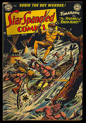 Star Spangled Comics #120 Very Nice Golden Age Batman Tomahawk DC 1951 VG-FN