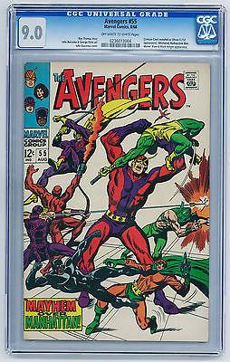Avengers #55 (Aug 1968, Marvel) CGC VF/NM 9.0 1st appearance of Ultron
