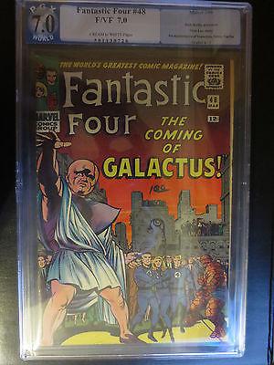 Fantastic Four 48 PGX 7.0 (like CGC) KEY First App. Galactus Silver Surfer