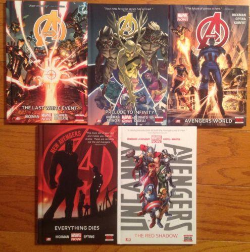 Avengers New Avengers Uncanny Avengers HC 1-3 Hickman Infinity First Prints