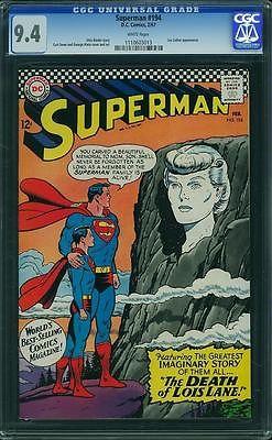 Superman #194 (DC, 1967) CGC NM 9.4  WHITE PAGES   CGC#1110603013