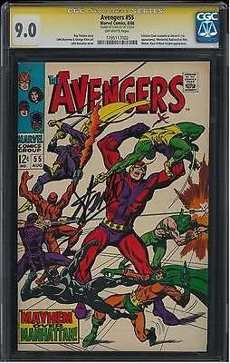 Avengers #55 CGC 9.0   Signed by Stan Lee  1ST APPEARANCE OF ULTRON  AVENGERS 2