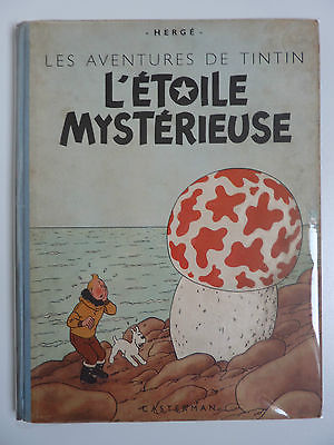 Tintin - l' étoile mystérieuse - dos bleu édition papier épais - B1 1946. Rare