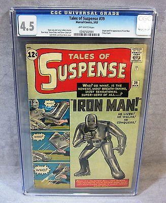 TALES OF SUSPENSE #39 (Iron Man 1st app. & origin) CGC 4.5 Marvel Comics 1963
