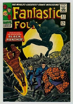 Fantastic Four #52 NM 9.4 OW pages 1966 Marvel Silver age 1st Black Panther