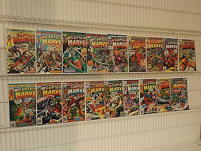 Huge Lot of Bronze-Age Captain Marvel #38-46,48,49,51,54,56,57,60-62 MOVIE
