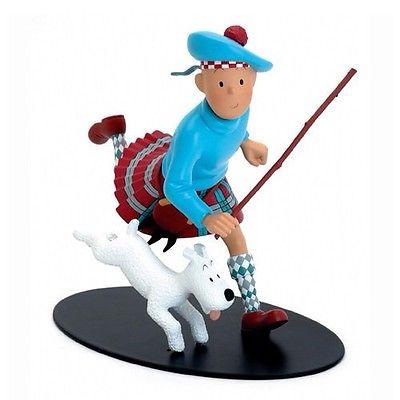 Tintin Ecossais Grand Modele Resine Leblon Epuisé