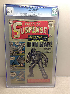 Tales of Suspense #39 CGC 5.5 1963 1st / First appearance of Iron Man MARVEL
