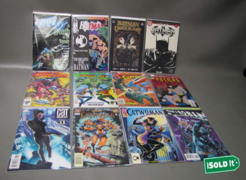 HUGE 90+  DC COMICS ROBIN CATWOMAN  BATMAN AND THE OUTSIDERS BATMAN THE CULT LOT
