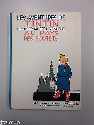Tintin - Les aventures de Tintin au pays des soviets 1980 ETAT NEUF