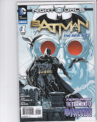 BATMAN ANNUAL #1 (NIGHT OF THE OWLS) DC NEW 52 NM 1st Print