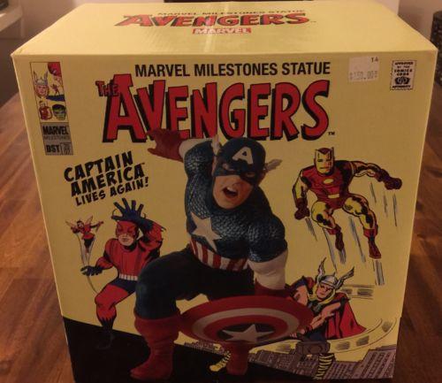 Marvel Milestones Statue Avengers Captain America Lives Again 118/1000