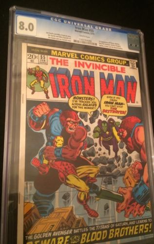 Iron Man 55 CGC 8.0 White Pages And Iron Man 151-300 Complete Vg/nm Lot