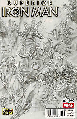 Superior Iron Man #1 1:300 Alex Ross Sketch Variant
