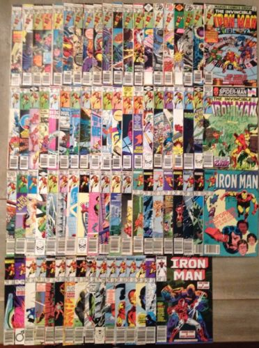 Iron Man Comic Lot #101 to #200 - 76 Great Marvel Comic Books