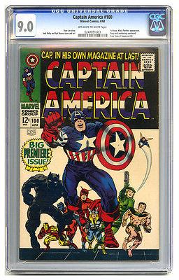 Captain America #100 CGC 9.0 Black Panther Sub-Mariner Thor Iron Man Marvel