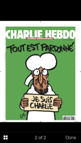 Charlie Hebdo Magazine Special Edition January 14 2015 UK Version