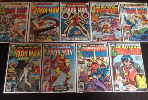 Iron Man #120-128 NM/NM+ FULL RUN Origin KEY Sub-Mariner Marvel 1979 No Reserve