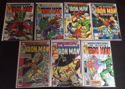 Iron Man #130-137 NM/NM+ 7 Books HULK ANT-MAN Marvel 1980 No Reserve