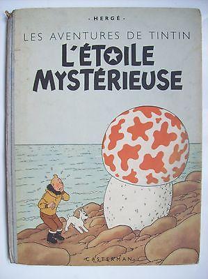 Hergé Tintin l'étoile mystérieuse 1946 1947 édition couleurs B1 BE