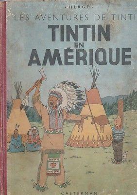 TINTIN - EN AMERIQUE - 1ère édition COULEURS 1946 - B1
