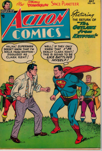 1954 DC NATIONAL ACTION COMICS SUPERMAN JULY ISSUE #194 OUTLAWS FROM KRYPTON