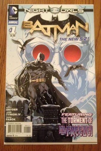 BATMAN ANNUAL #1 NIGHT OF THE OWLS DC NEW 52 NM Comic Book 1st Print HTF