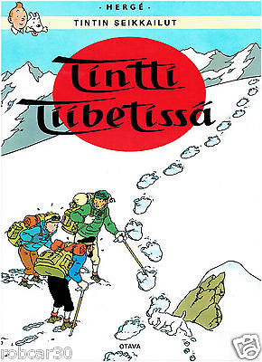 SCHLUMPF PITUFO COMIC ''TINTIN IN TIBET'' in FINNISH 1