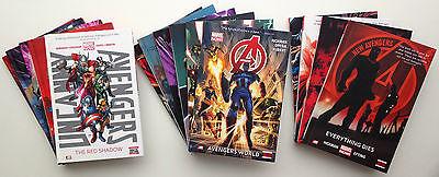 Avengers 1-6, New Avengers 1-4, Uncanny Avengers 1-5 HUGE 15 Book HARDCOVER Lot