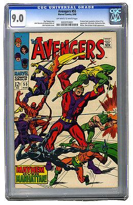 AVENGERS #55 CGC 9.0 1st ULTRON Movie Villain; HOT KEY book; OW-White pp; LOOK