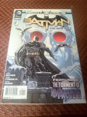DC Comics Batman Annual #1 Night of the Owls New 52 First Printing